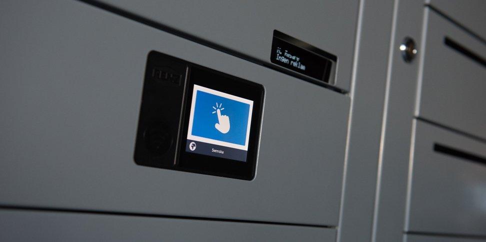 Renz e-Line fastighetsbox display och digital namndisplay