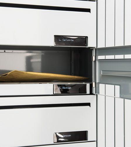 Renz e-Line elektronisk fastighetsbox - digital namndisplay